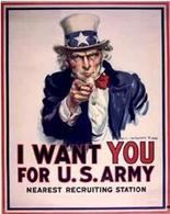 Lo Zio Sam per l'esercito statunitense. Fonte: Library of Congress