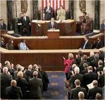 Il Presidente Obama in Congresso, 25 Feb. 2009. Fonte: America.gov Blogs
