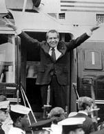 Nixon poco prima di rassegnare le dimissioni 9 Agosto 1974. Fonte: Watergate.info