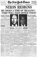 L'impeachment presidente Nixon. Fonte: NY Times