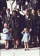 La first family ai funerali di Stato