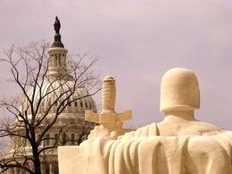 Capitol Hill vista dal palazzo della Corte Suprema