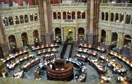 La sala di lettura della Library of Congress