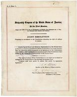 La risoluzione che propose il XIX emendamento
