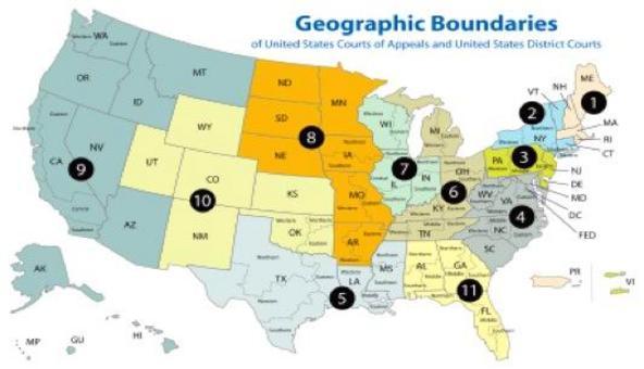 Gli 11 distretti giudiziari