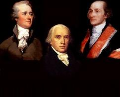 Alexander Hamilton, James Madison, John Jay. Fonte: Virginia.edu