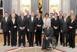Il Bundeskabinett. Fonte: Bundeskanzlerin.de