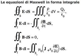 Le equazioni di Maxwell in forma integrale