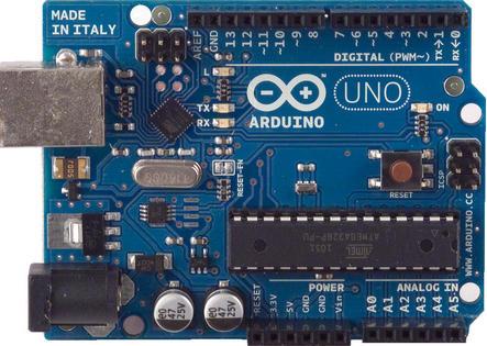 Esempio di dispositivo di controllo monolitico monolitico single board – Microcontrollore Arduino UNO