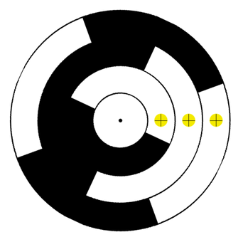 Esempio di encoder angolare assoluto con codifica Gray