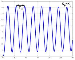 Oscillazioni permanenti ottenuti per un valore di KP pari a KU.