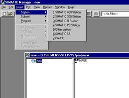 Schermata del sistema di sviluppo per PLC SIemens.