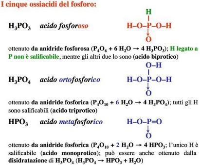 Formule di struttura degli ossiacidi del fosforo (1)