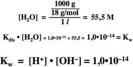 Prodotto ionico dell'acqua.