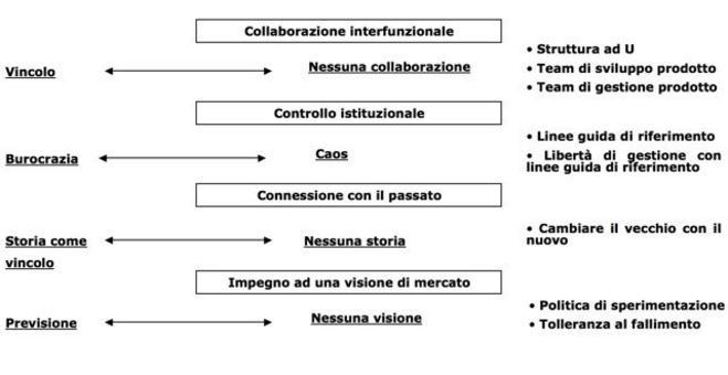 Rispetto ai vincoli si possono individuare anche le soluzioni organizzative possibili