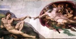 Michelangelo. La Creazione di Adamo  Fonte: Wikipedia