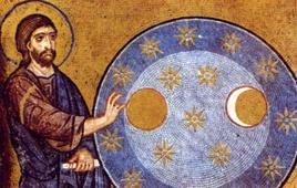 Dio e l'Universo, particolare della Cappella Palatina di Palermo.Fonte: Homolaicus
