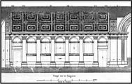 Rilievo di Palazzo Farnese in P.M. Letarouilly, Le Vaticain et la Basilique de Saint- Pierre, Paris, 1889