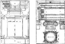 Ordine ionico. Fonte: Andrea Palladio, I quattro libri dell'Architettura, Venezia, 1570