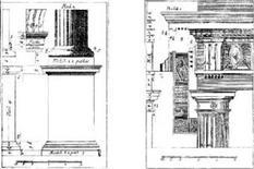 Ordine dorico. Fonte: Jacopo Barozzi da Vignola, Regola delli cinque ordini d'architettura, Roma, 1562