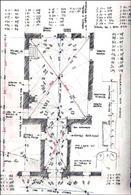Eidotipo della pianta del piano terra di un palazzo napoletano con schema della trilaterazione