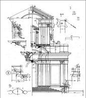 Schizzi di studio per il rilevamento della facciata di SS. Vincenzo e Anastasio e Roma
