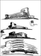 E. Mendelson, schizzi di studio