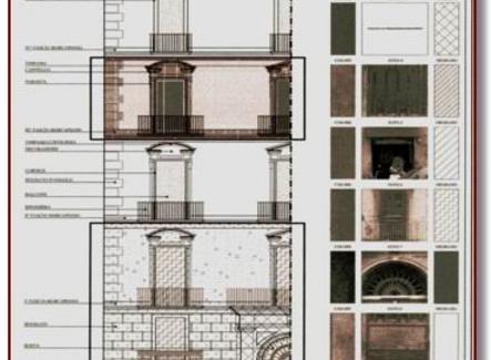 Tavola relativa al rilievo dei materiali