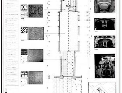 Tavola di rilievo della pavimentazione dell'androne di un palazzo napoletano