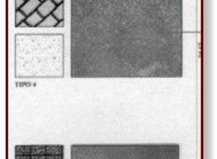 Dettaglio della legenda dei materiali con indicazione dei simboli utilizzati