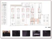 Tavola di analisi del degrado di superficie sulla facciata di un edificio storico