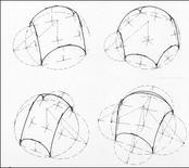 Volte a vela impostate su ambienti poligonali. Fonte: M. Docci, Scienza della rappresentazione