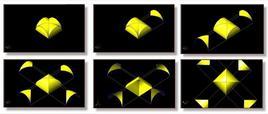 Genesi geometrica della volta a padiglione. Fonte: Disegni di R. Catuogno