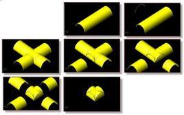 Genesi geometrica della volta a crociera e della volta a padiglione. Fonte: Disegni di R. Catuogno