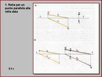 Fig. 8: parallela alla retta data passante per P
