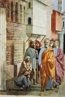 Masaccio, San Pietro guarisce gli infermi con la sua ombra, 1426-1427. Fonte: Wikimedia Commons