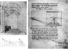Leon Battista Alberti, Studi sulla prospettiva