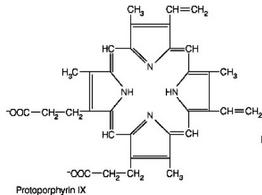 Protoporfirina IX. Immagine autoprodotta