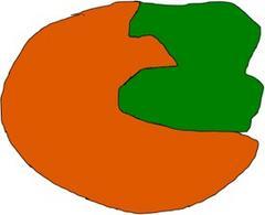 Inibitore della tripsina in verde. Immagine autoprodotta.