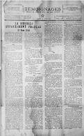 """Le journal  """"témoignage"""" dédie une de ses pages au statut de 1946"""
