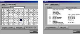 Simboli e caratteri speciali