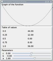 Figura 4: L'aspetto suggerito per l'applicazione da realizzare.