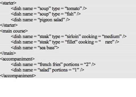 L'ordinazione verrà passata in cucina attraverso un unico messaggio XML.