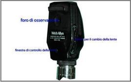 Testa dell'oftalmoscopio diretto.