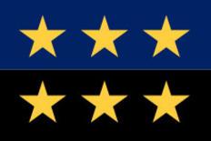 La bandiera della CECA, creata col Trattato di Parigi del 18 aprile 1951