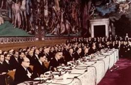 Firma dei trattati di Roma istitutivi della CEE e dell'Euratom del 25 marzo 1957