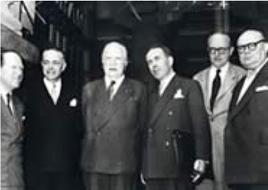I ministri degli esteri della CECA riuniti a Messina il 1 giugno 1955. Fonte:  Parlamento Europeo