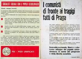 Socialisti e comunisti assumono posizioni diverse sui fatti di Praga