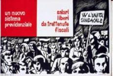 Prove di unità sindacale in un manifesto del 1970
