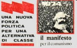 """Una locandina del gruppo de """"Il Manifesto"""" del 1974"""